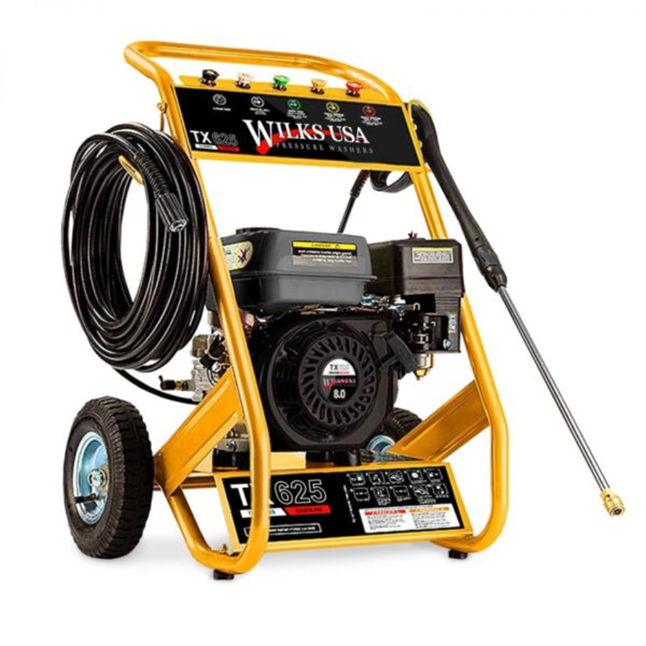 Jet washer for cleaning patios